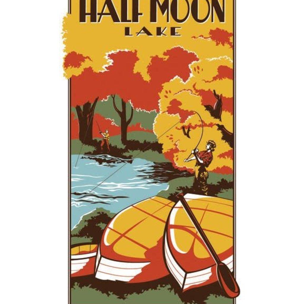 Volume One Vintage Tourism Poster - Half Moon Lake