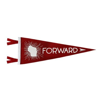 Gitchi Adventure Goods Pennant - Wisconsin Forward