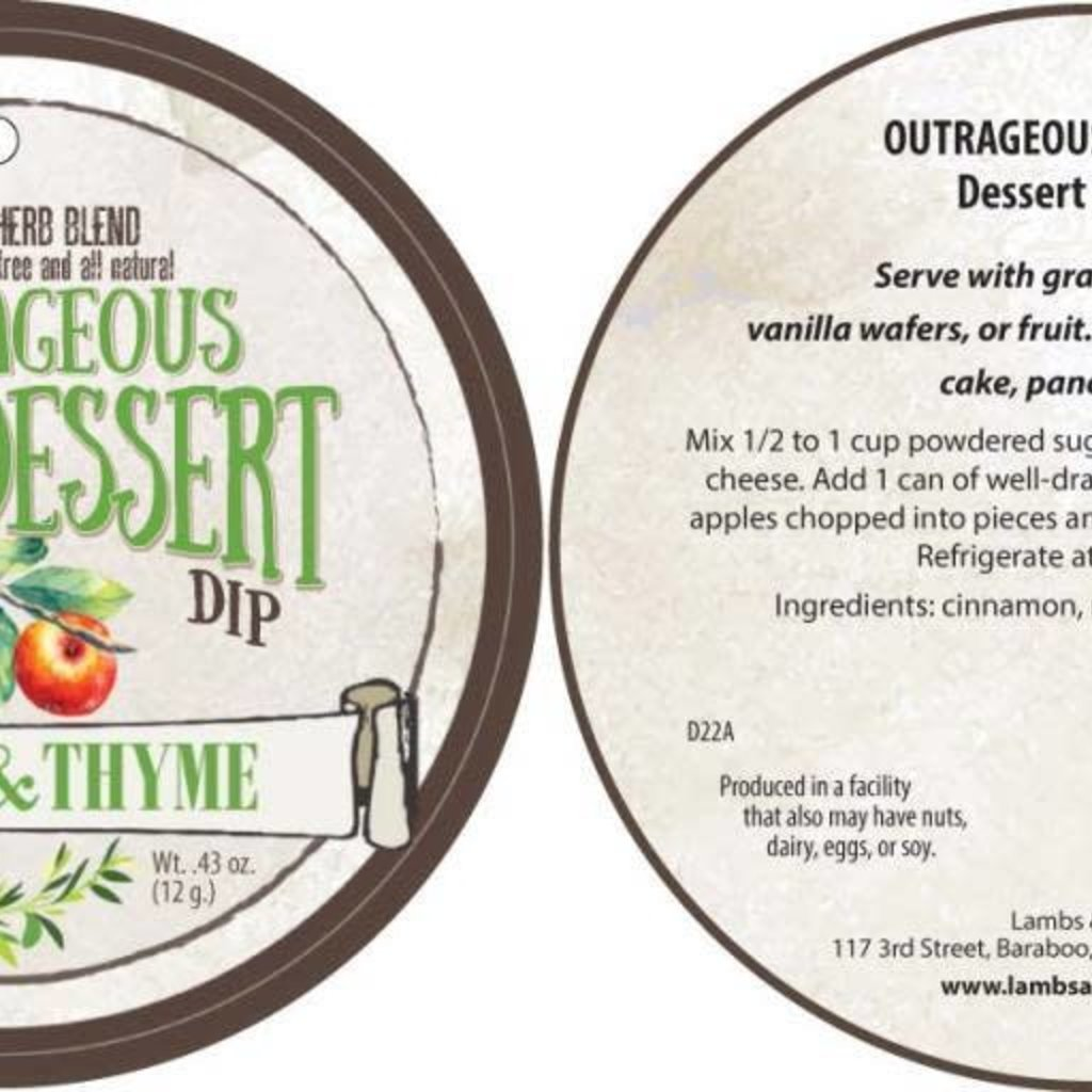 Lambs & Thyme Herb Blend - Outrageous Apple Dip