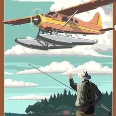 Volume One Wisconsin Float Plane & Fisherman Print (12x18)