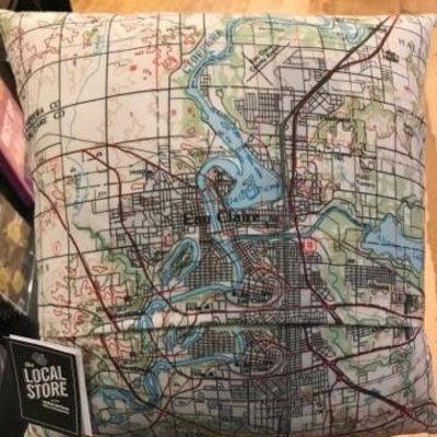 Volume One Eau Claire Map Pillow
