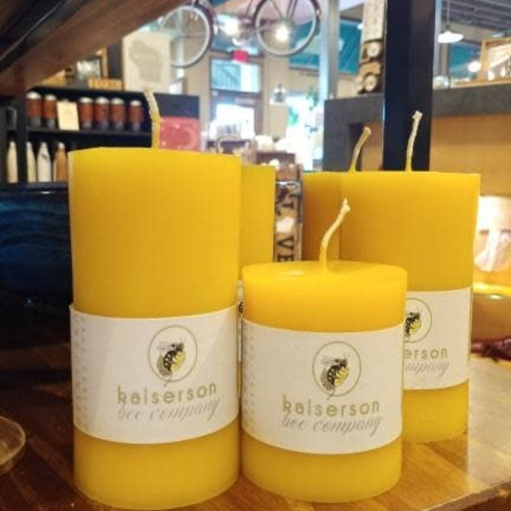KAISERson Beeswax Candle - Large (3X6)