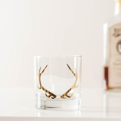 Vital Industries (WI) Rocks Glass - Antler (Gold)