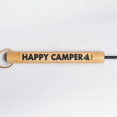 Ame High Log Crafts Outdoor Fire Poker - Happy Camper