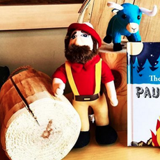 Paul Bunyan Logging Camp Museum Plush Paul Bunyan
