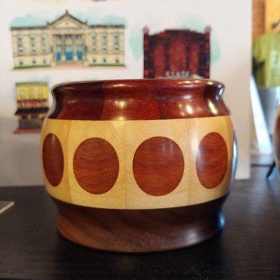 Richard Ryan Wood Bowl w/ Polka Dots