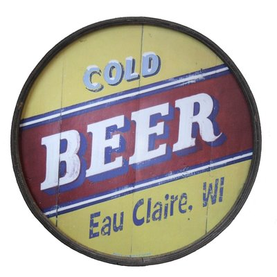 Volume One Cold Beer - Eau Claire - Wooden Barrel End