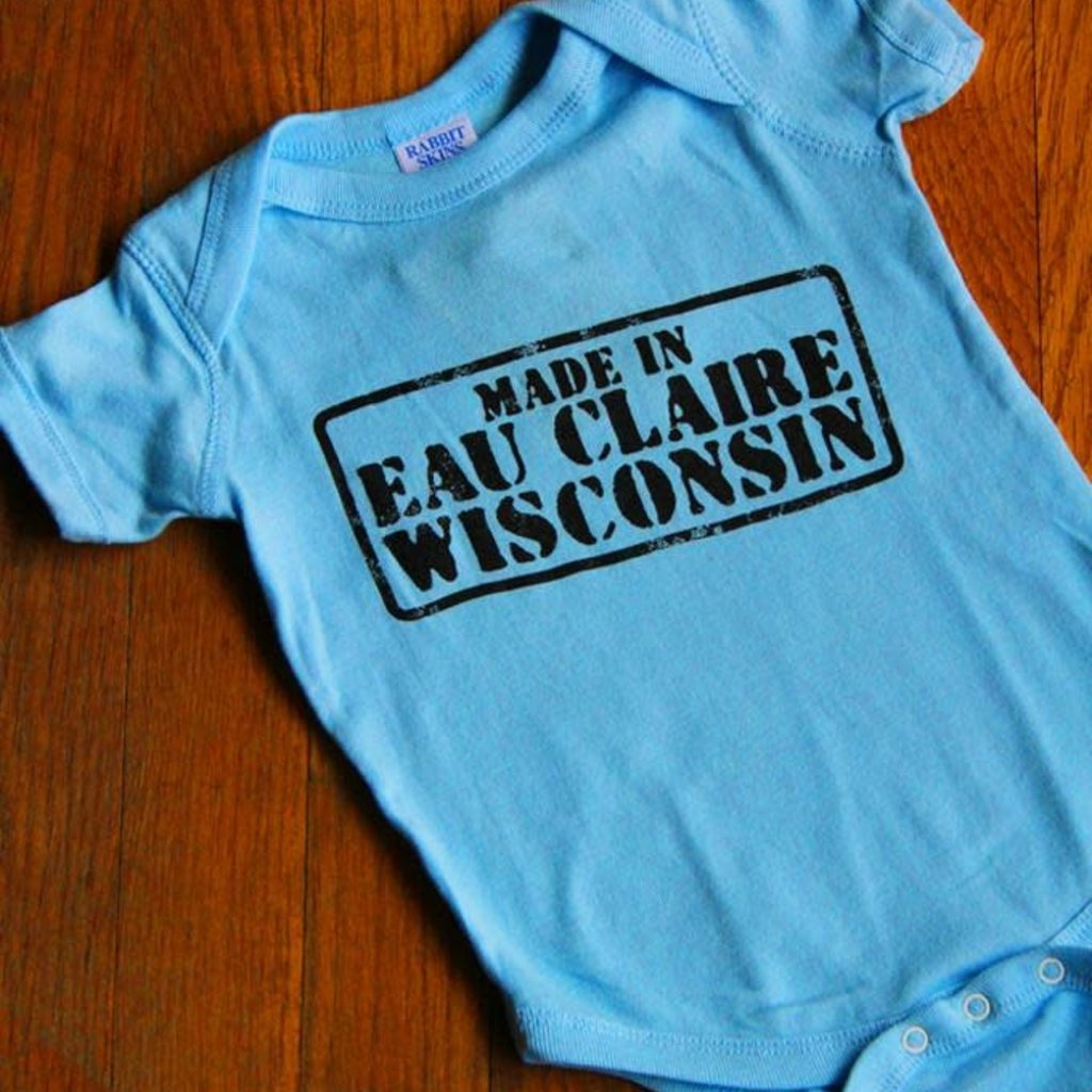 Volume One Made in Eau Claire Onesie (Blue)