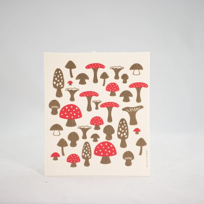 Volume One Swedish Dishcloth - Mushrooms