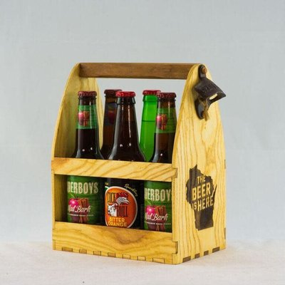Eco Urban Timber Beer Caddy - The Beer is Here