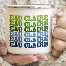 Volume One Enamel Mug - Eau Claire (Blue & Green)