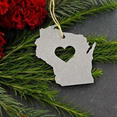 Iron Maid Art Ornament - Metal Wisconsin