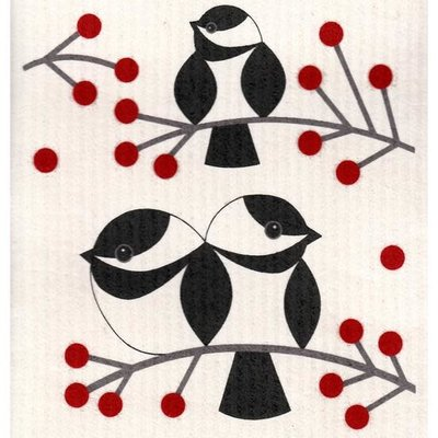 Volume One Swedish Dishcloth - Chickadee