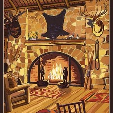 Volume One Wisconsin Lodge Interior Print (12x18)