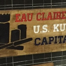 Riverside Creations and Woodworking Wood Sign - Kubb Capital