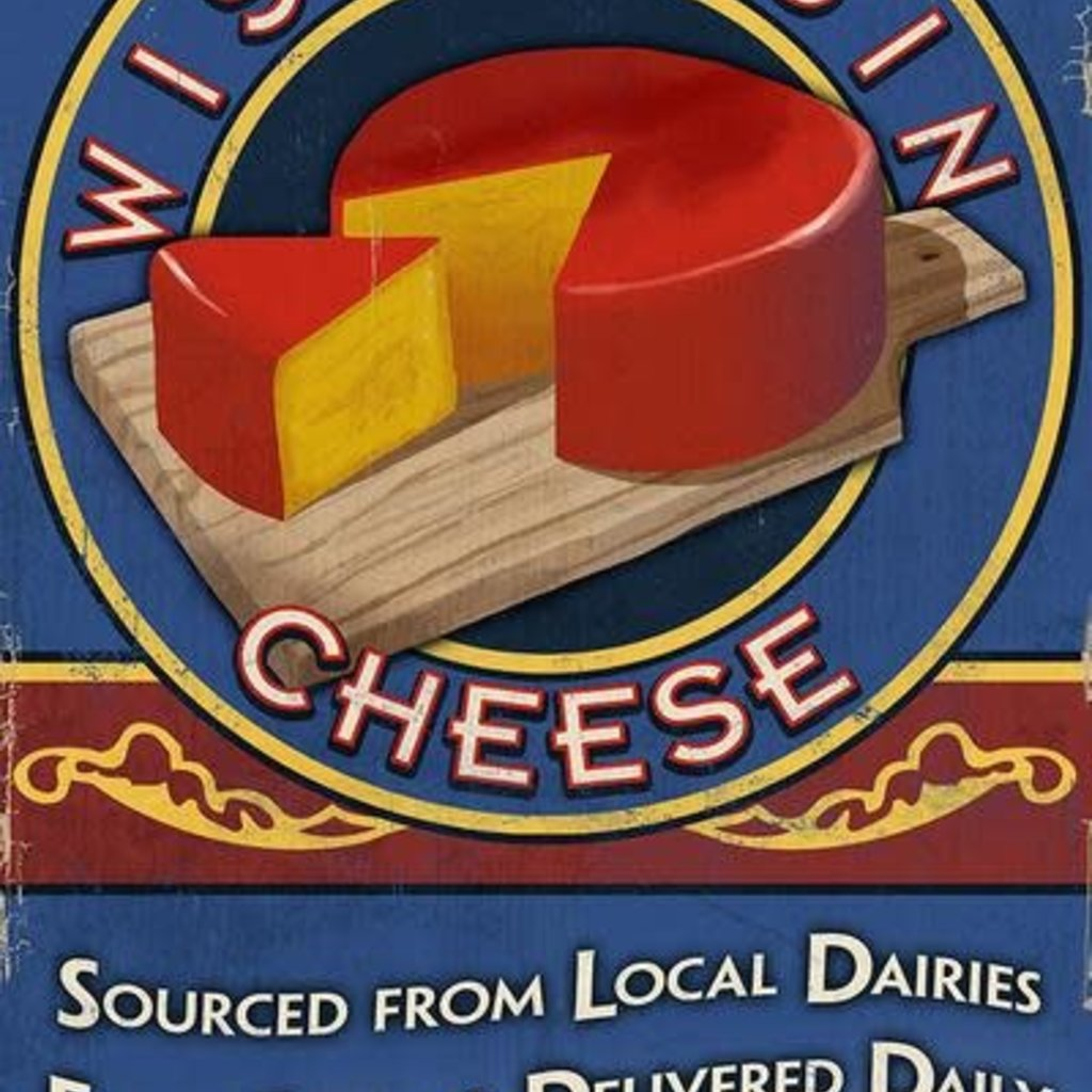 Volume One Metal Sign - Wisconsin Cheese (12x18)