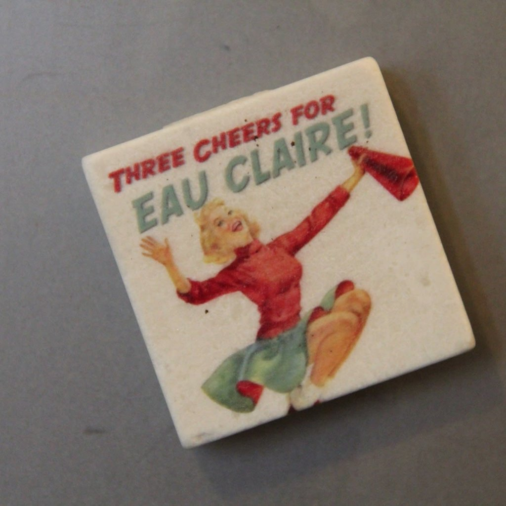 Volume One Marble Magnet - Three Cheers for Eau Claire
