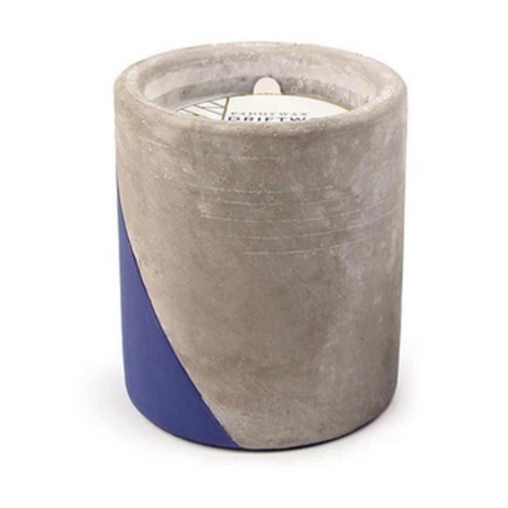 Paddywax Candles Concrete Candle - Large Driftwood & Indigo (12 oz)