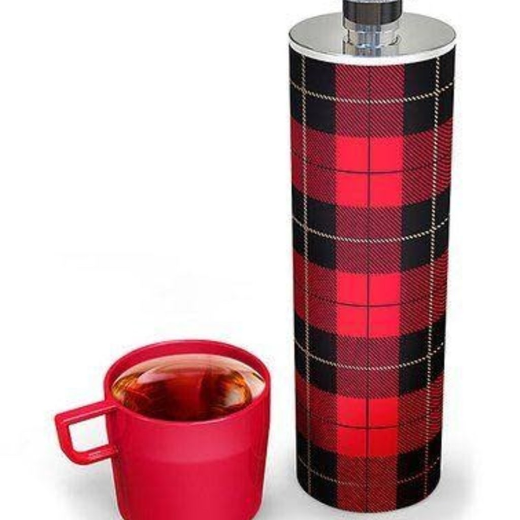Fred & Friends Buffalo Plaid Thermos Flask