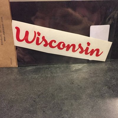Sunra Company Vinyl Decal - Wisconsin Text