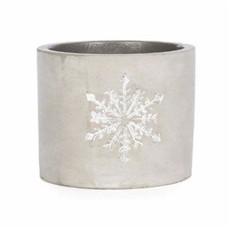 Volume One Cement Planter - Snowflake