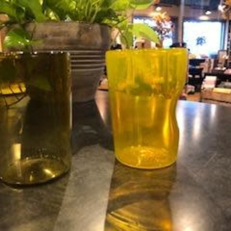 The Glass Orchard Locally Blown Glass - Tumbler w/ Dimple