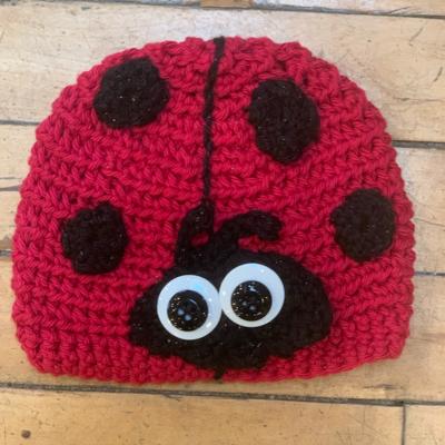 Cindy Knapmiller Knit Kids Hat - Ladybug