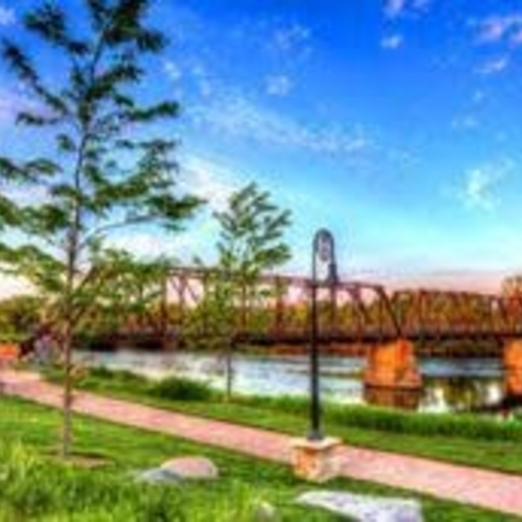 Lloyd Fleig The Bridge at Phoenix Park - 20x30