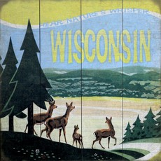Volume One Wisconsin - Hear Nature's Whisper Wooden Sign