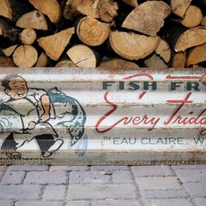 Volume One Friday Fish Fry - Corrugated Metal Sign
