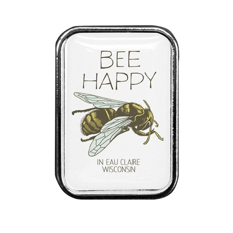 Volume One Lapel Pin - Bee Happy (Eau Claire)