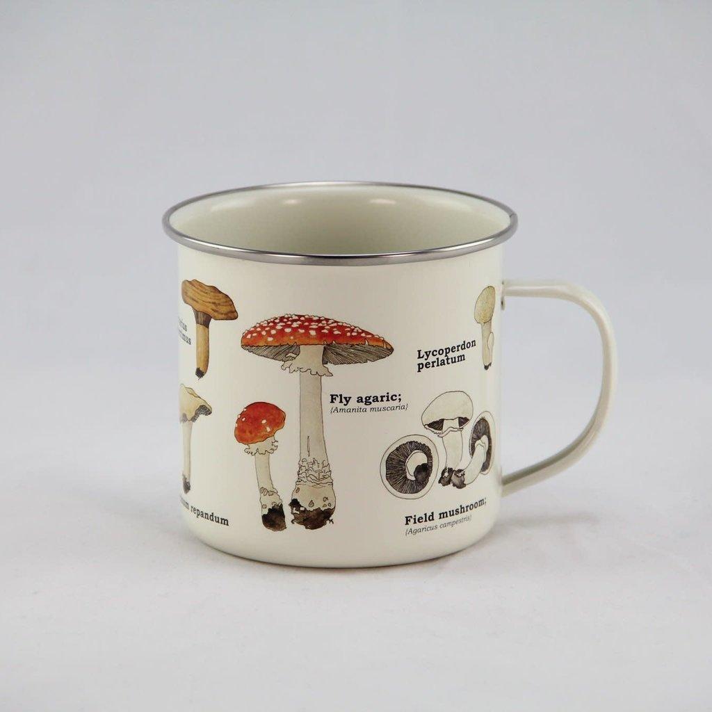 Gift Republic Enamel Mug - Mushroom
