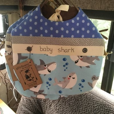 Deb Christenson Bib - Baby Shark