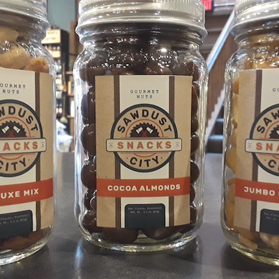 Sawdust City Snacks Mason Jar Pint - Cocoa Almonds