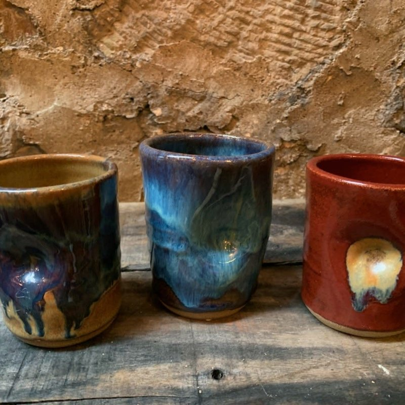 Dancing Cat Arts (Pottery) Thumb Tumbler Cups (Pottery) - Assorted Colors