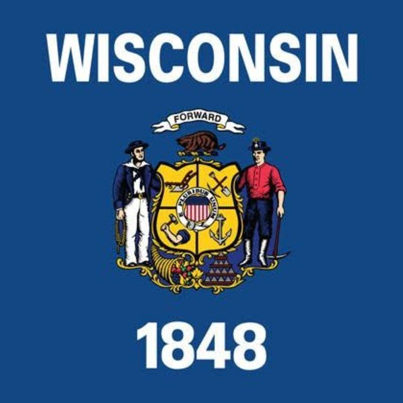 Volume One Sticker - WI State Flag