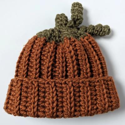 Lame Maker Crochet Pumpkin Hat (3-6 months)