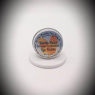 The Muddy Feet Forty Lip Balm Tin - Orange Creamsicle