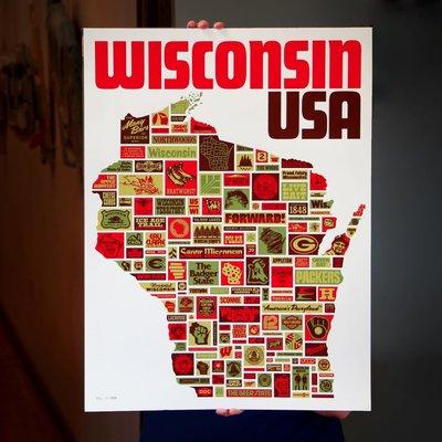 Aaron Draplin Wonderful Wisconsin USA - Draplin Print