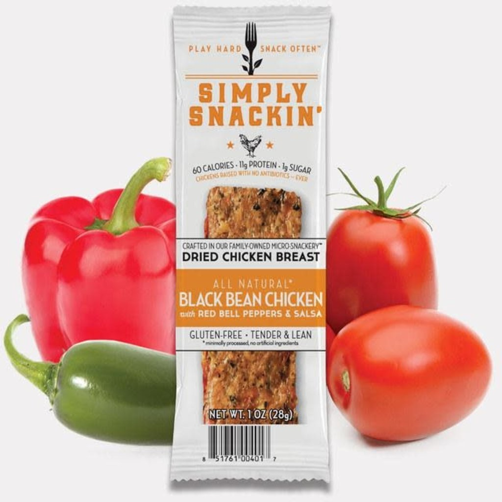 Simply Snackin' Protein Jerky Snack - Black Bean Chicken