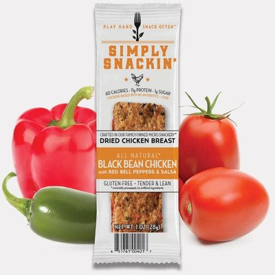 Simply Snackin' Protien Jerky Snack - Black Bean Chicken