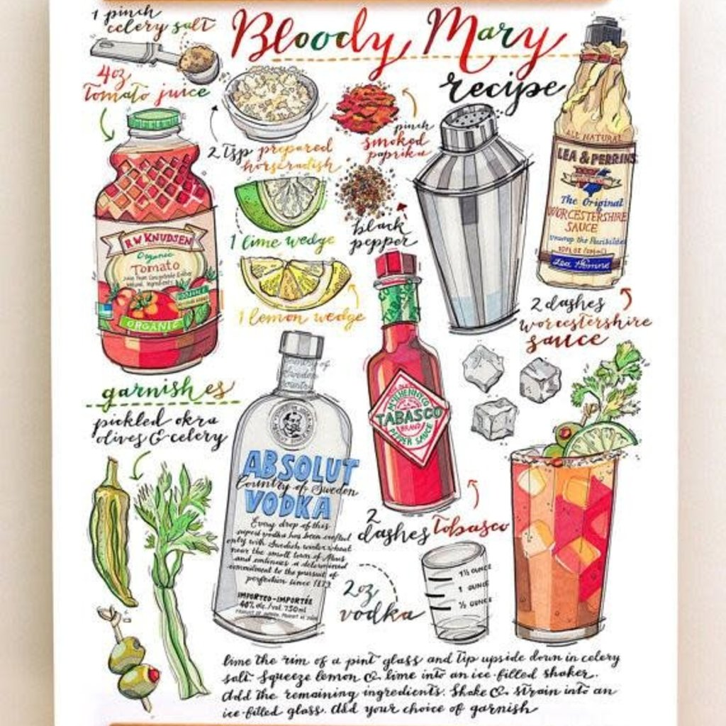 LouPaper Bloody Mary Print Vertical (8x10)