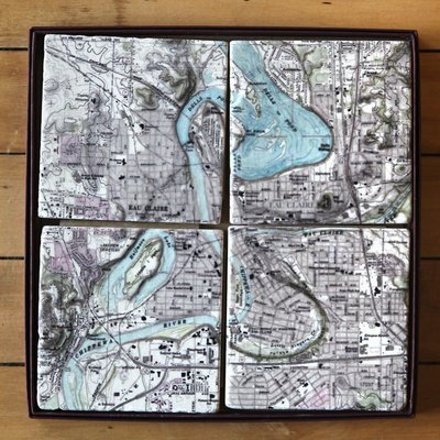 Volume One Marble Coaster - EC/Chippewa River 4-Pack