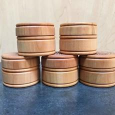 Create Laser Arts Small Round Wood Box - Pine Tree + Chippewa Valley