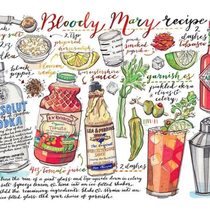 LouPaper Bloody Mary Print Horizontal (8X10)