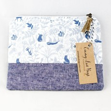 Emmy Lou Bags Linen Bottom Pouch
