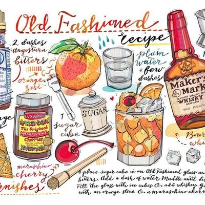 LouPaper Old Fashioned Print Horizontal (11X14)