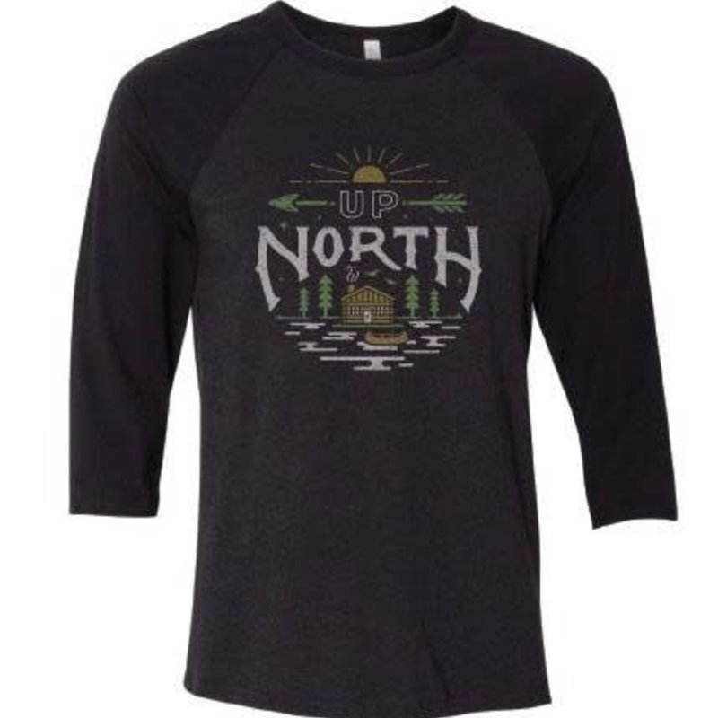 Orchard Street Apparel Up North Longsleeve Tee - Black