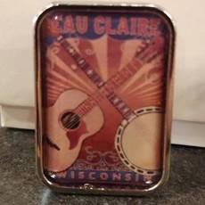 Volume One Lapel Pin - Guitar and Banjo