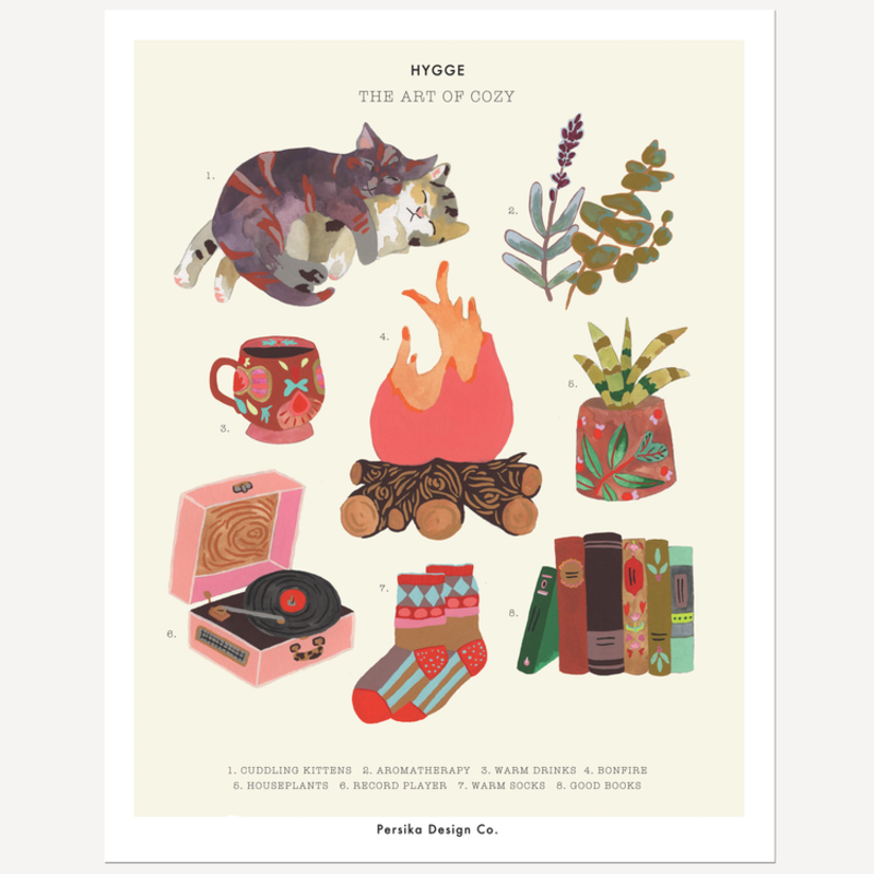Persika Design Hygge - The Art of Cozy Print (11x14)